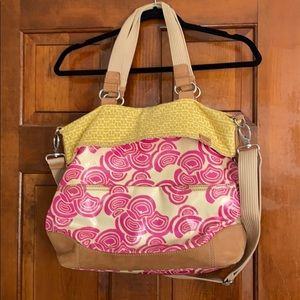Fossil coated canvas and leather Key per tote